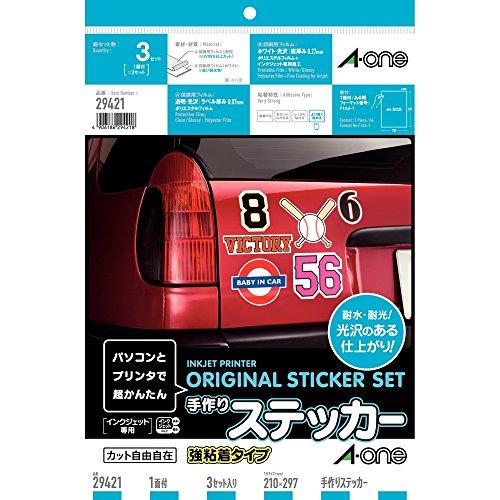 RoomClip商品情報 - エーワン 手作りステッカー 強粘着 3セット 29421
