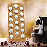 Eco-Friendly Bamboo Nespresso Capsules Pod Holder for 18 Nespresso Original Capsules by Podzania, an Ideal Coffee Storage Container for Coffee Pods and a for Your Coffee Table