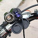 MyArmor バイク用 電源 スイッチ付き 防水 USB電源 充電器 USBポート 電源ポート バイク ハンドル 用 シガーソケット電源 汎用取り付けセット USBチャージャー