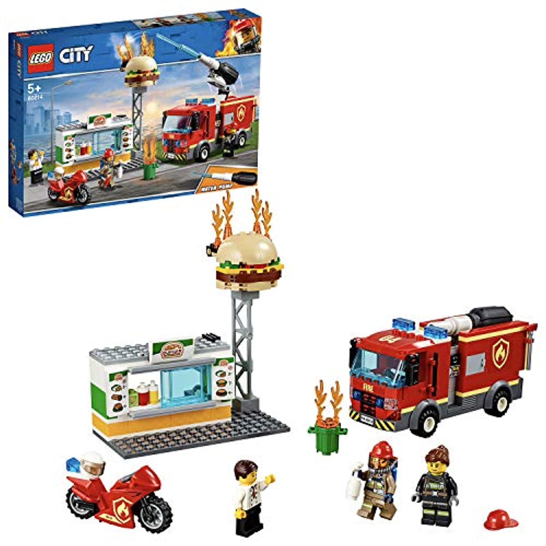 レゴ(LEGO) シティ ハンバーガーショップの火事 60214 ブロック おもちゃ ブロック おもちゃ 男の子 車