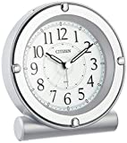 シチズン 目覚まし時計 アナログ セリアRA18 蓄光 & ライト 連続秒針 銀色 メタリック CITIZEN 8REA18-019