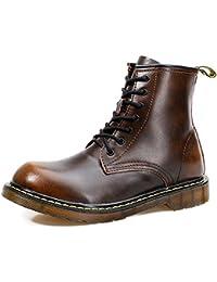 Iamoy ワークブーツ メンズ 本革 ブーツ メンズ ワークブーツ メンズ ブーツ ミリタリー 防水ブーツ カジュアルシューズ 雨靴 取り外し可のステルスインソール付き