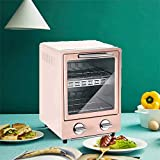 Electric oven cooker Mini Oven, Multi-Function Small Electric Roaster, Worktop Oven And Grill, Small Electric Ovens Portable,Household Mini Barbecue (Color : Pink)