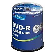 三菱ケミカルメディア Verbatim 1回記録用 DVD-R DHR47JP100V4 (片面1層...