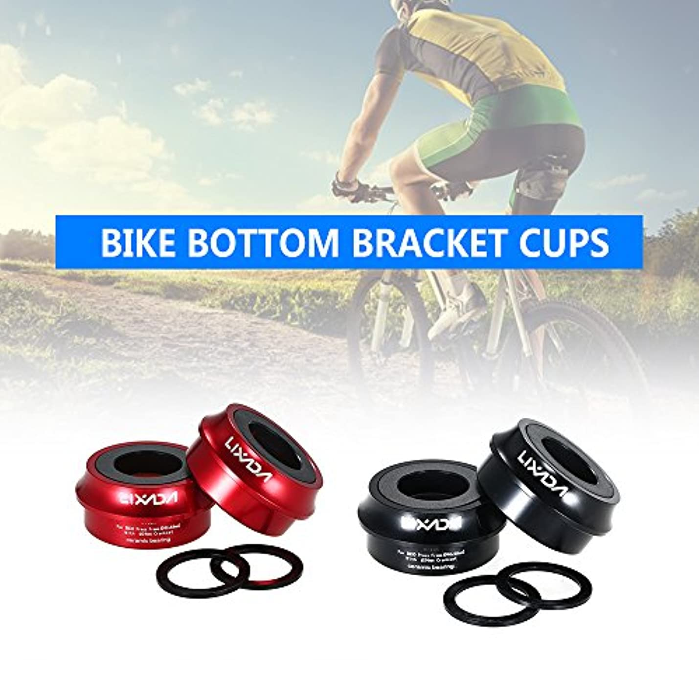 一時解雇する残高退屈Rakuby ロード 自転車 自転車プレスフィットフィットブラケットカップ アルミニウム合金 66mm / 72mm BB カップクランクセット ベアリング軸部品