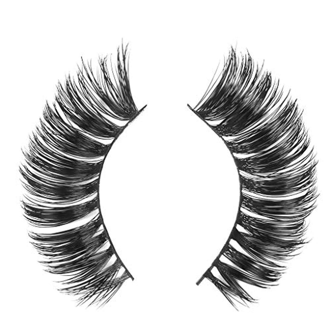 いっぱいケーブル富豪ミンクの毛の自然な厚くなる化粧品の3D版のための一組のまつげ