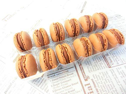 ベルギー産 マカロン 2種 (チョコレート・ピスタチオ) 各12個×2P入りセット 冷凍・ショコラ+ピスタチオ・