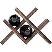 QING MEI デスクトップワインラックソリッドウッド小さな赤いワインソリッドウッドフレーム