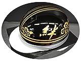 TNK TR-40C 峠 コルク半ヘルメット ブラック / ゴールド【絆】 フリーサイズ