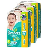 【テープタイプ】パンパース Lサイズ (9~14kg) テープ さらさらケア 204枚  (68枚×3パック)