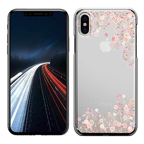 「Breeze-正規品」iPhone ・ スマホケース ポリカーボネイト [透明-Pink] Apple iphone X iphoneX ケース iphone X カバー アイフォンX ケース SIMフリーカバー 液晶保護フィルム付 全機種対応 [IX]