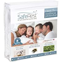 King Size SafeRest Classic Plus Hypoallergenic 100% Waterproof Mattress Protector - Vinyl Free