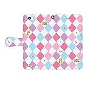 【多機種対応】 プリパラ のん チェックデザイン 手帳型スマホケース iPhone7 【受注生産】