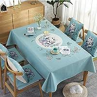 テーブルクロスホームデコレーションプレーンコットンテーブルクロス長方形ピニングテーブルクロス用テーブルピクニックパーティー,グリーン,85x85cm