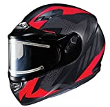 HJC エイチジェイシー CS-R3 Treague Snow Helmet - Electric Shield フルフェイスヘルメット マットブラック/レッド L(59〜60cm)