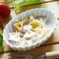 洋食器 白い食器の耐熱オーブンオーバルパイプレート13cm グラタン ラザニア マカロニ チ ーズ 日本製