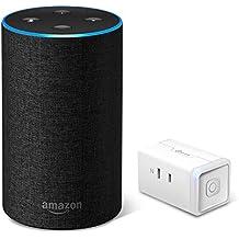 Amazon Echo (Newモデル)、チャコール (ファブリック) + TP-Link WiFi スマートプラグ 直差しコンセント 音声コントロール
