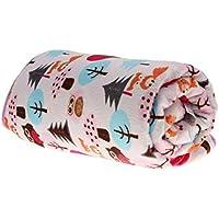 ノーブランド品 ベビー 赤ちゃん フリース ブランケット おくるみ 毛布 ベビーキルト 敷物 寝具 ソフト 暖かい 10パタン選べる