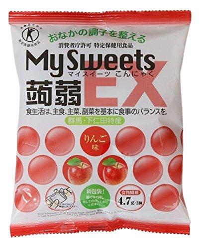 マイスイーツ蒟蒻EX りんご味 160g ×16袋