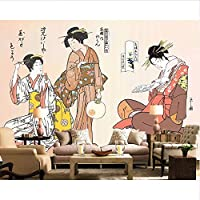 Wuyyii カスタム壁紙和風メイド和食レストランレストラン壁画家の装飾リビングルームの寝室3D壁紙B-400X280Cm