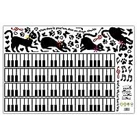 ケイ・ララ ウォールステッカー ネコ 鍵盤 あしあと 音符 北欧 モダン かわいい 壁紙シール 両面印刷