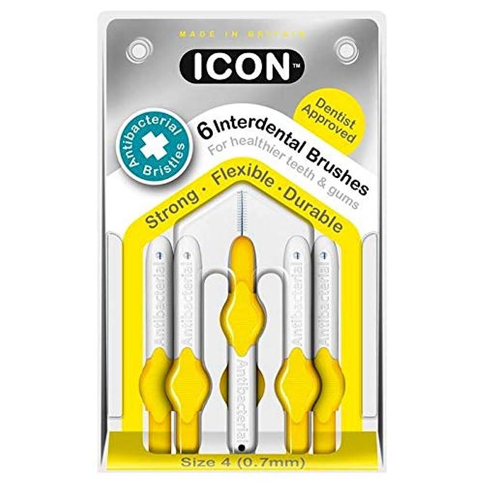 暗黙テザーアクセサリー[Icon ] アイコンの歯間には、パックあたり0.7ミリメートル6ブラシ - Icon Interdental Brushes 0.7mm 6 per pack [並行輸入品]