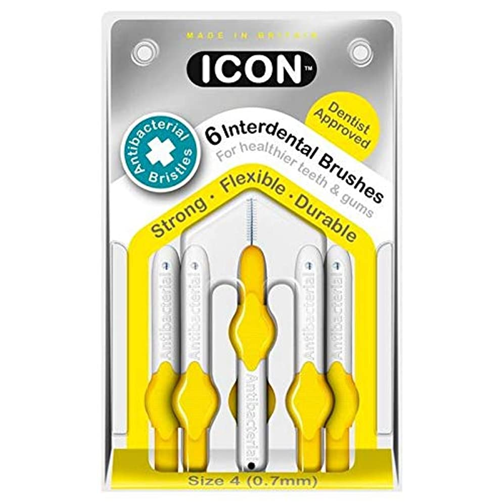 ひばり体操[Icon ] アイコンの歯間には、パックあたり0.7ミリメートル6ブラシ - Icon Interdental Brushes 0.7mm 6 per pack [並行輸入品]