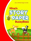 Minas: Story Book | Kids Large Blank Pre-K Primary Draw & Write Storybook Handwriting Paper | Drawing Tale Writing Practice Pages for Girls | Use imagination, create stories, be creative | Zoo Animal Farm Farmland | Personalized Name Initial X
