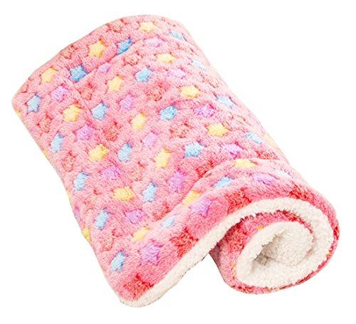 Yihiro ペット用ベッド・マット クッション 犬・猫用 洗える ぐっすり眠る 快適 ふわふわ ベッドソファ (ピンク・L)