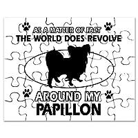 CafePress–Papillon dog funny Designs–ジグソーパズル、30個。