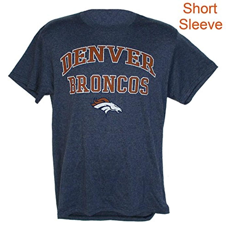 つま先鳥ロックマジェスティックDenver Broncos大人ミディアムNFL Authentic半袖シャツ – 杢ブルー