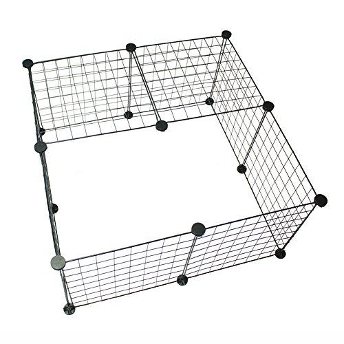 PureNicot ペットサークル 小型犬 室内 フェンス レイアウト自由 折りたためる 取り付け簡単 継ぎ足し可能 小動物(10枚セット)