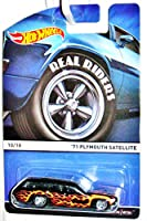 Hot Wheels Real Riders 2015 Heritage Series 10 of 18 '71 Plymouth Satellite Station Wagon with Flames