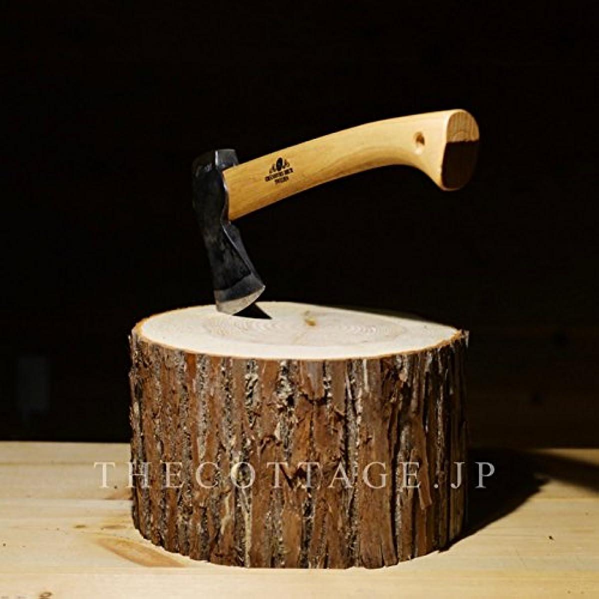 ビルマ増幅ヘロイン【COTTAGE (コテージ)】 薪割り台 キャンプ用 高さ15cm / 樹皮付き