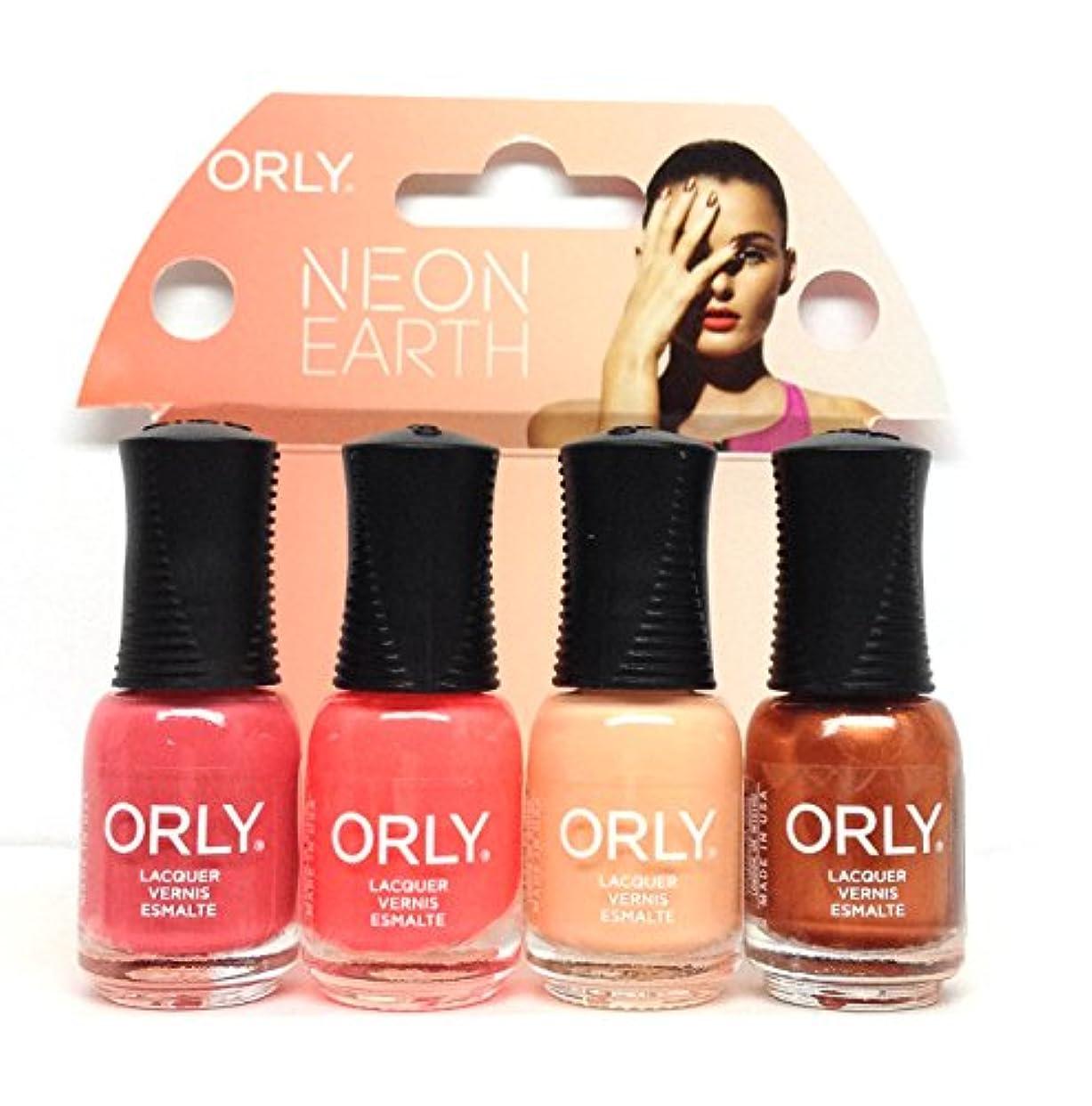 オピエート言い換えると測定Orly Nail Lacquer Mani Minis - Neon Earth - 4 x 0.18 Fl Oz / 5.3 mL