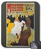 ロートレック『 ムーラン・ルージュのラ・グーリュ 』のマウスパッド:フォトパッド*( 世界の名画シリーズ ) (濃緑)