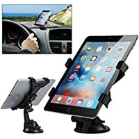 車載用吸盤付きテーブルホルダー フロントガラスデスクダッシュボード 360度回転 iPad Pro 9.7 iPad Mini 4/3/2/1 iPad Air 2/1 サムスン Galaxy Tab E 9.6/8.0 A 7.0/8.0/9.7 すべての7-10インチタブレット用