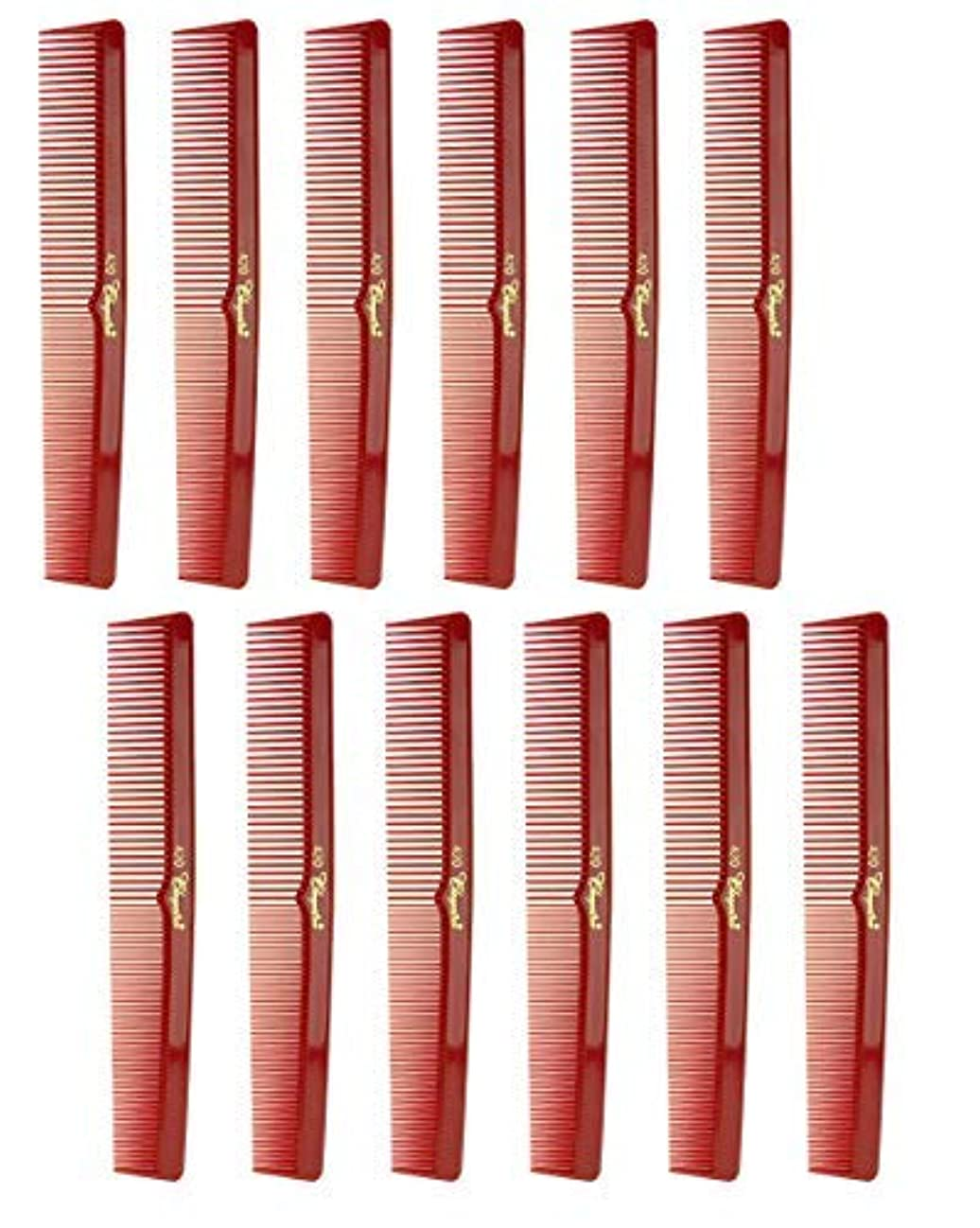 重要性保存雷雨7 Inch Hair Cutting Comb. Barber's & Hairstylist Combs. Red. 1 DZ. [並行輸入品]