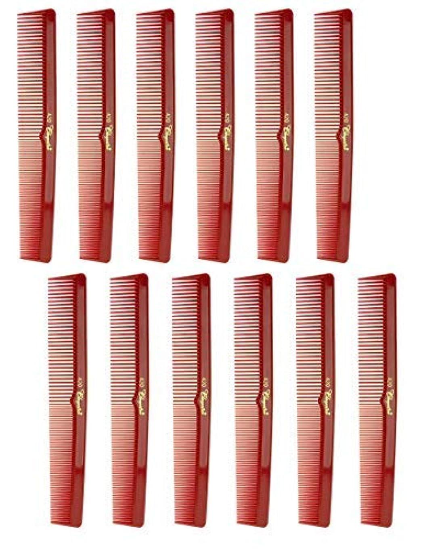 畝間まともな子犬7 Inch Hair Cutting Comb. Barber's & Hairstylist Combs. Red. 1 DZ. [並行輸入品]