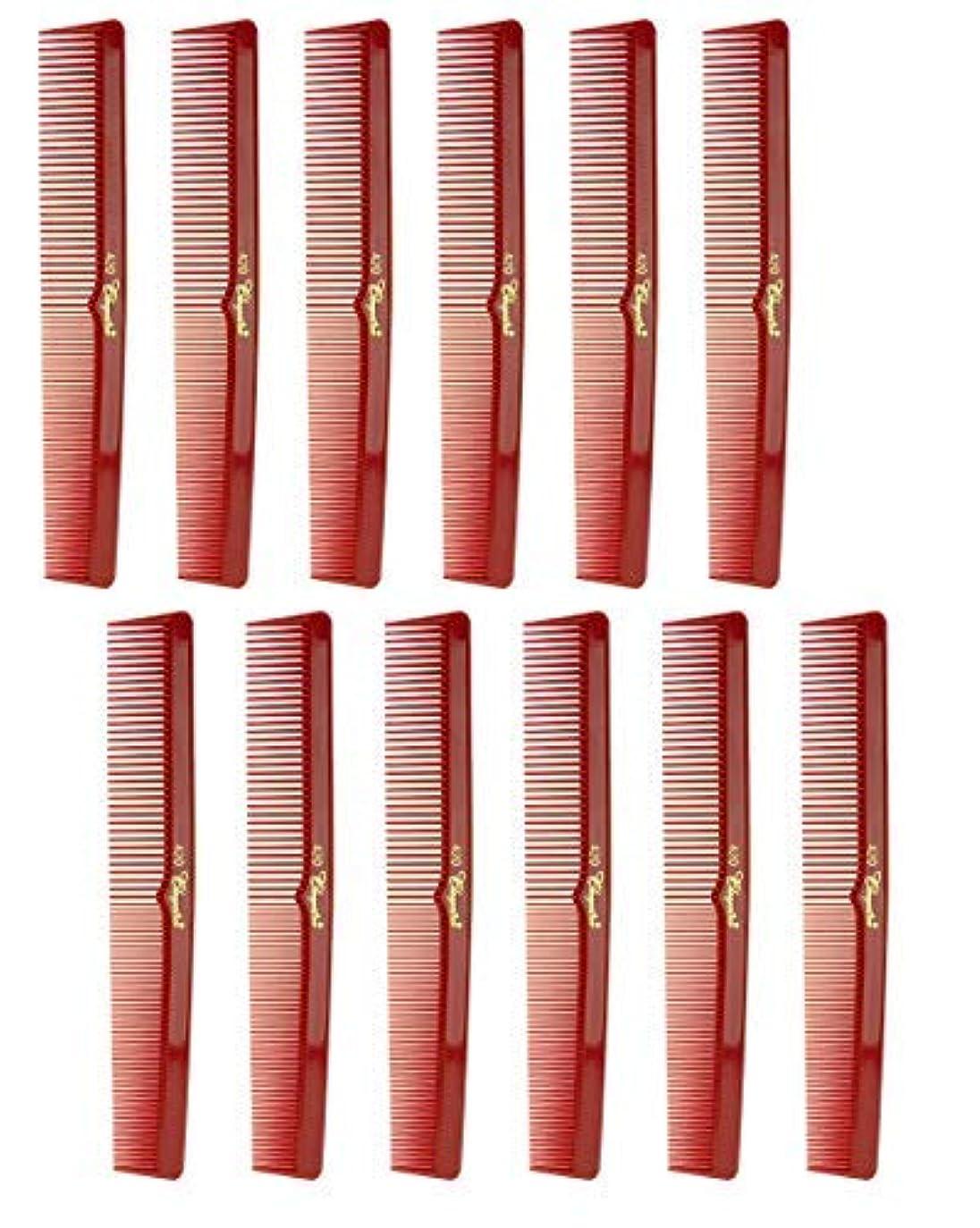 裁量一般的に尽きる7 Inch Hair Cutting Comb. Barber's & Hairstylist Combs. Red. 1 DZ. [並行輸入品]