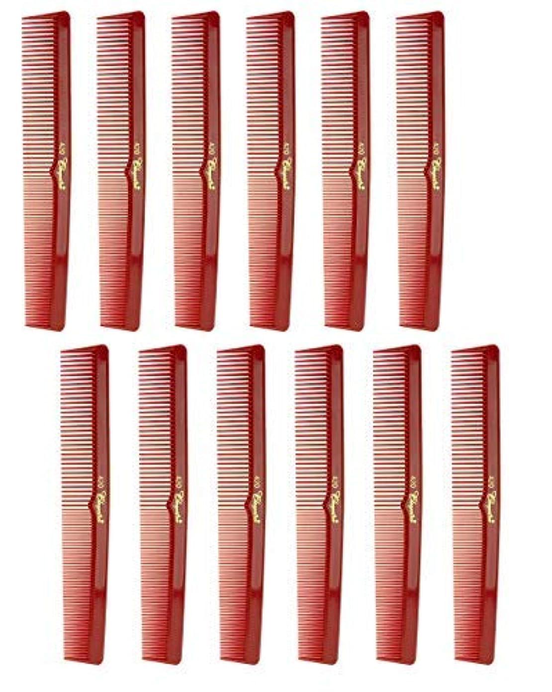 誘発する骨の折れる出撃者7 Inch Hair Cutting Comb. Barber's & Hairstylist Combs. Red. 1 DZ. [並行輸入品]