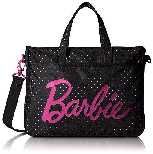[バービー] Barbie トートバッグ (レッスンバッグ) オリビア ショルダーベルト付 12L 51593 01 (ブラック)