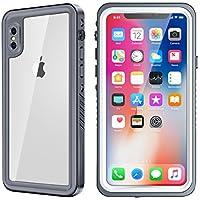 iPhone xケースEonfine耐衝撃防水保護ケース内蔵スクリーンプロテクター付きfor iPhone X 5.8インチ、サポートワイヤレス充電