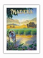 マデラ(サン・ホアキン・バレー)・ワイナリー - セントラルヴァレーAVAブドウ園 - カリフォルニアワインカントリーアート によって作成された カーン・エリクソン -プレミアム290gsmジークレーアートプリント - 46cm x 61cm