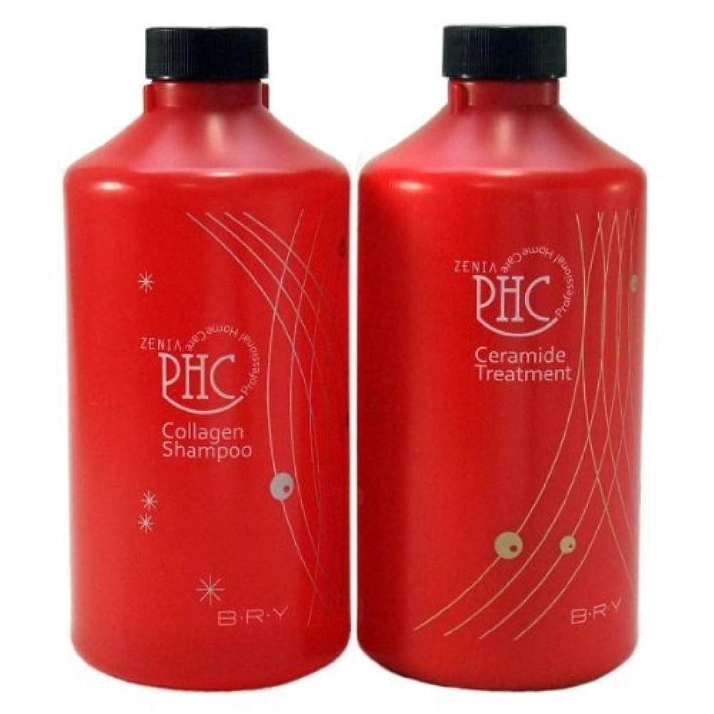 ストレージ消毒剤プレビスサイトゼニア PHC コラーゲンシャンプー800ml &セラミドトリートメント800g 詰替えタイプセット
