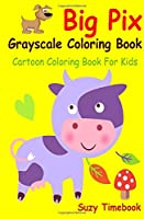 Big Pix Grayscale Coloring Book Cartoon Coloring Book for Kids: Grayscale Coloring Book for Kids, Cultivates Children's Natural Creativity and Builds Self- Confidence and Pride of Accomplishment - Critical Components of Personal Development.