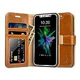 Labato iPhone8ケース 手帳型 本革レザー TPU スタンド カードポケット アイフォン8ケース 財布型 手作り ハンドメイド 耐摩擦 耐汚れ 全面保護 フリップ 人気 ( Lbt-IP8-02Z20, ブラウン)