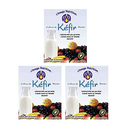 ケフィア40g(5g×8パック)3個セット ケフィアヨーグルト種菌 8000ml分作れる オメガニュートリションのケフィア(ケフィール)