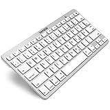 kwmobile ワイヤレス Bluetooth キーボード QWERTZ ホワイト iPad, iPhone, Android またはWindows
