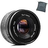 7artisans 50mm F1.8 Large Aperture Portrait Manual Focus Lens for Fuji FX Mount Cameras(Black)